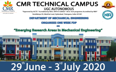 """Online FDP on """"Emerging Research Areas in Mechanical Engineering"""""""